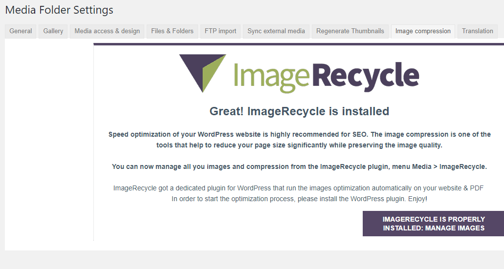 Image Compression Settings