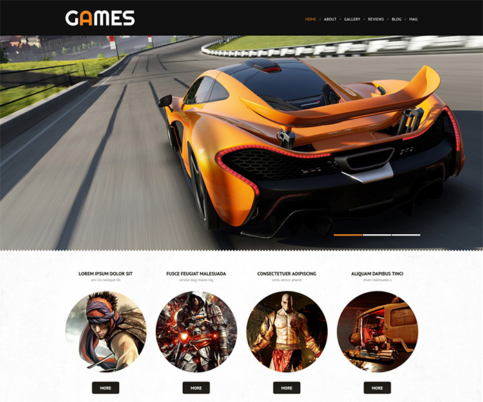 Games - Game Portal Responsive WordPress Theme