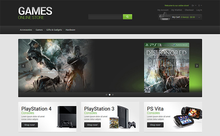 Games Online Store Magento Theme