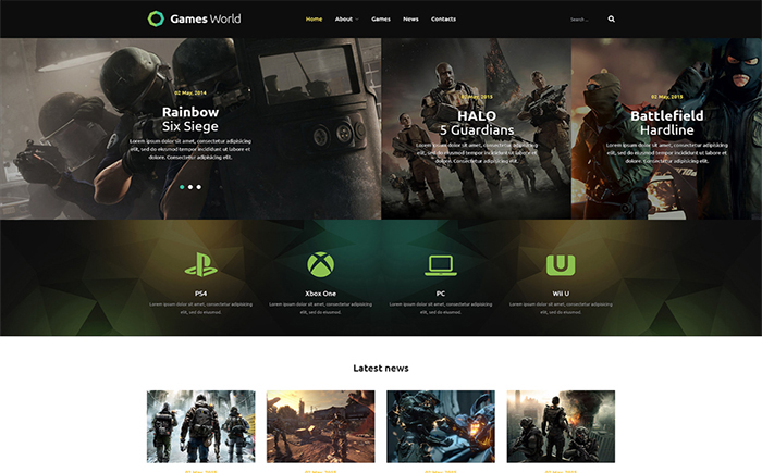 GamesWorld - Awesome Game Portal Joomla Template