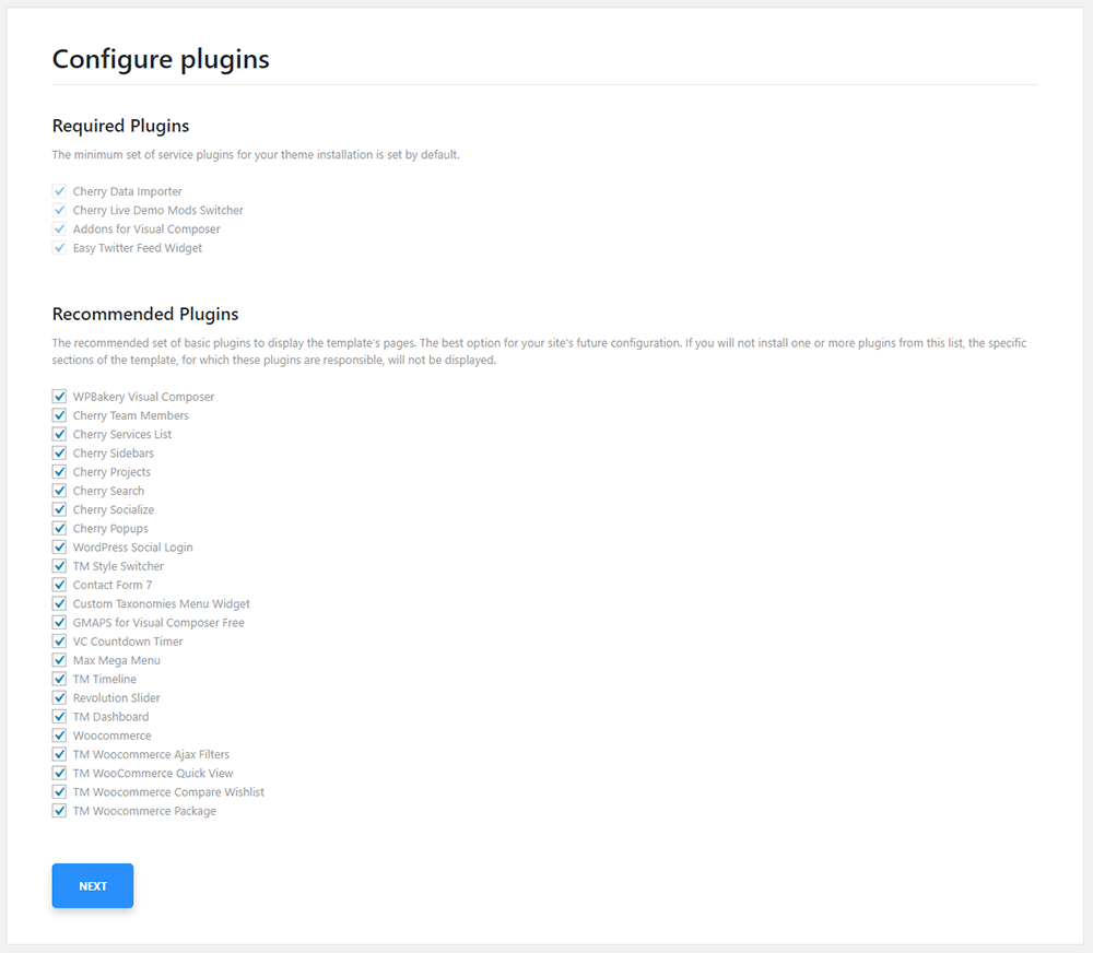Configure Plugins