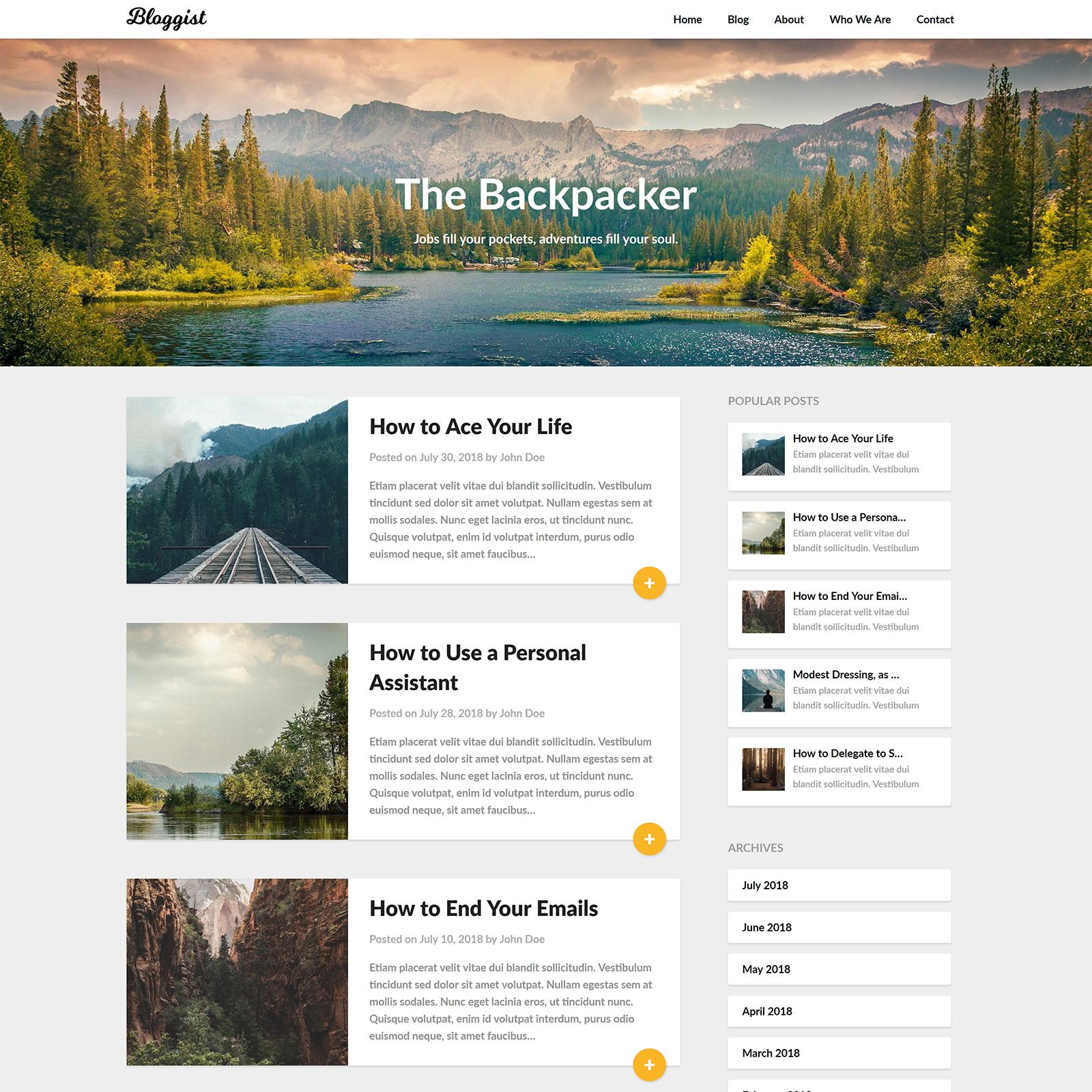 Bloggist WordPress Theme