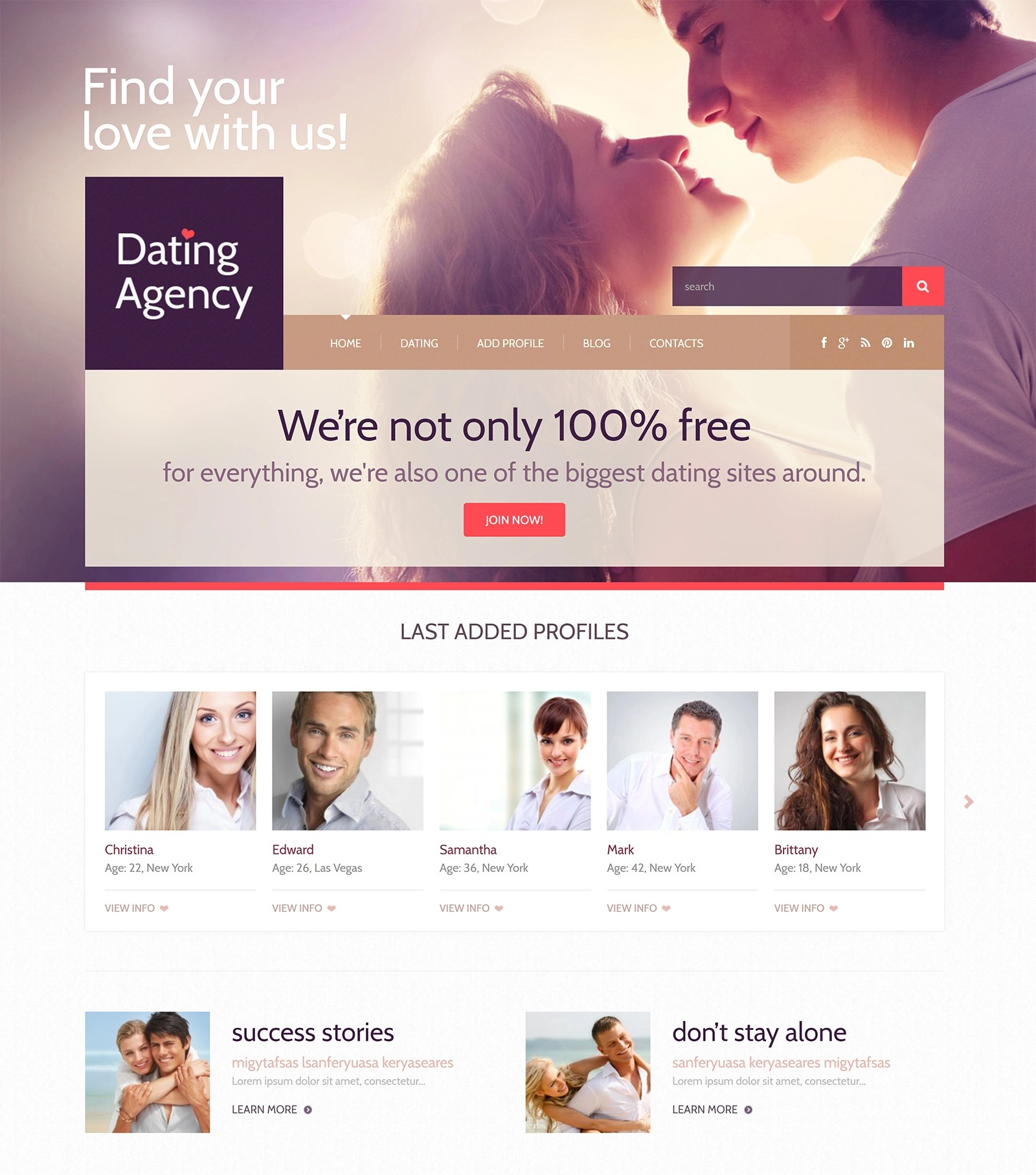 Matchmaking wordpress tema