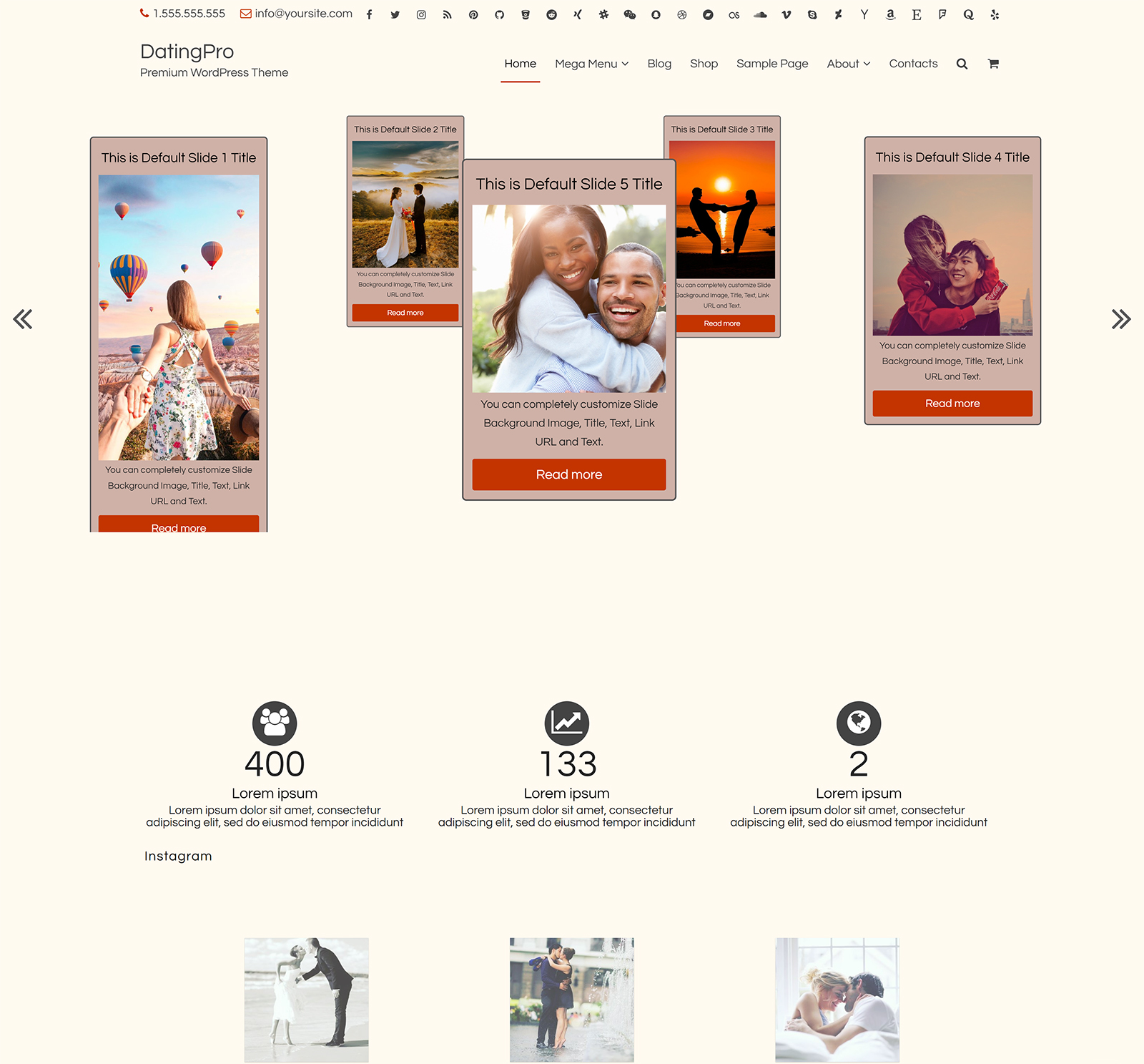 Dating:Lite WordPress Theme