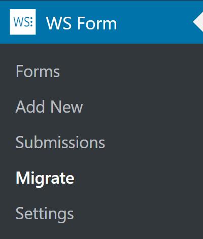 WS Form Admin Menu