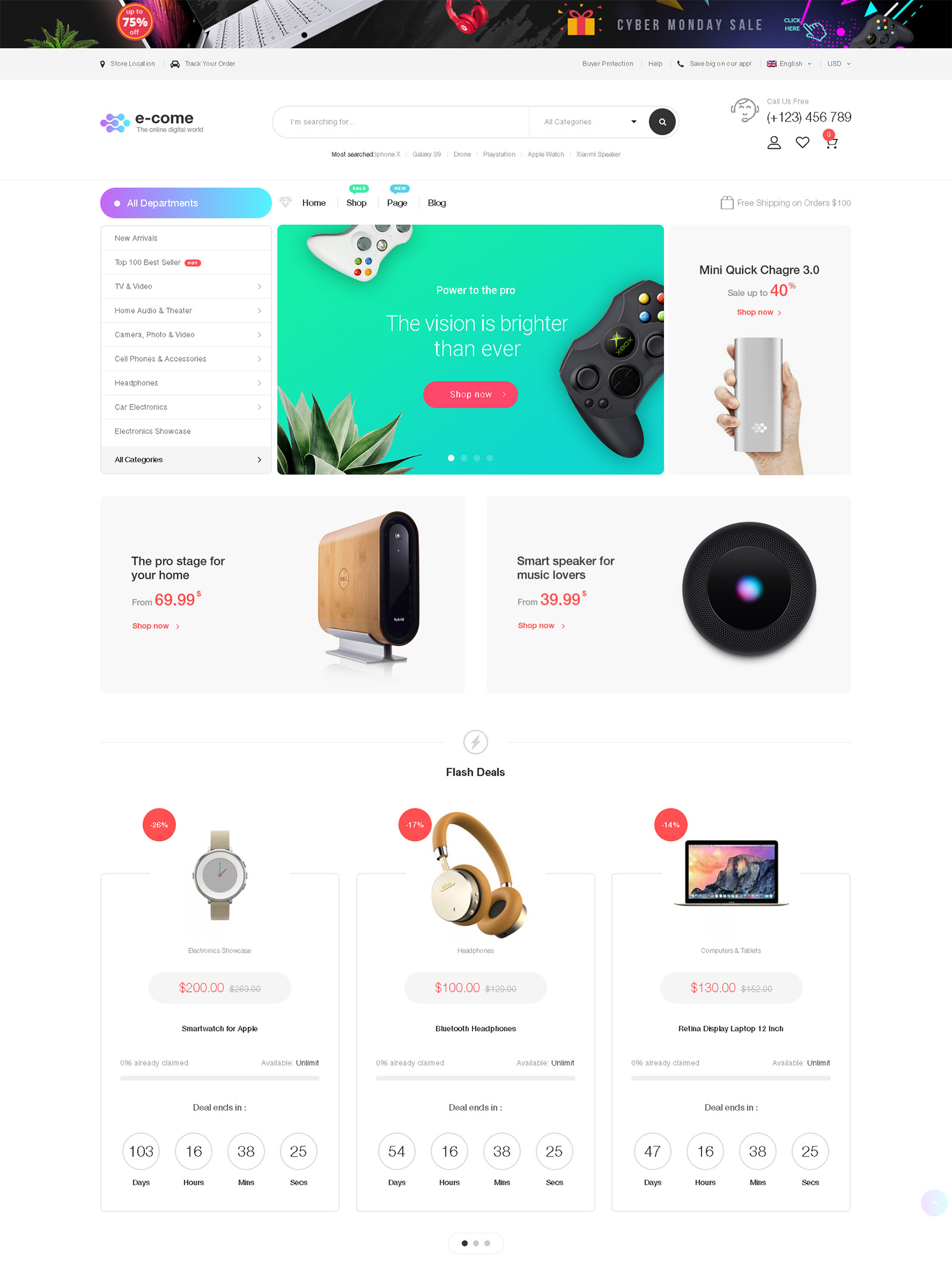 Ecome WordPress Theme