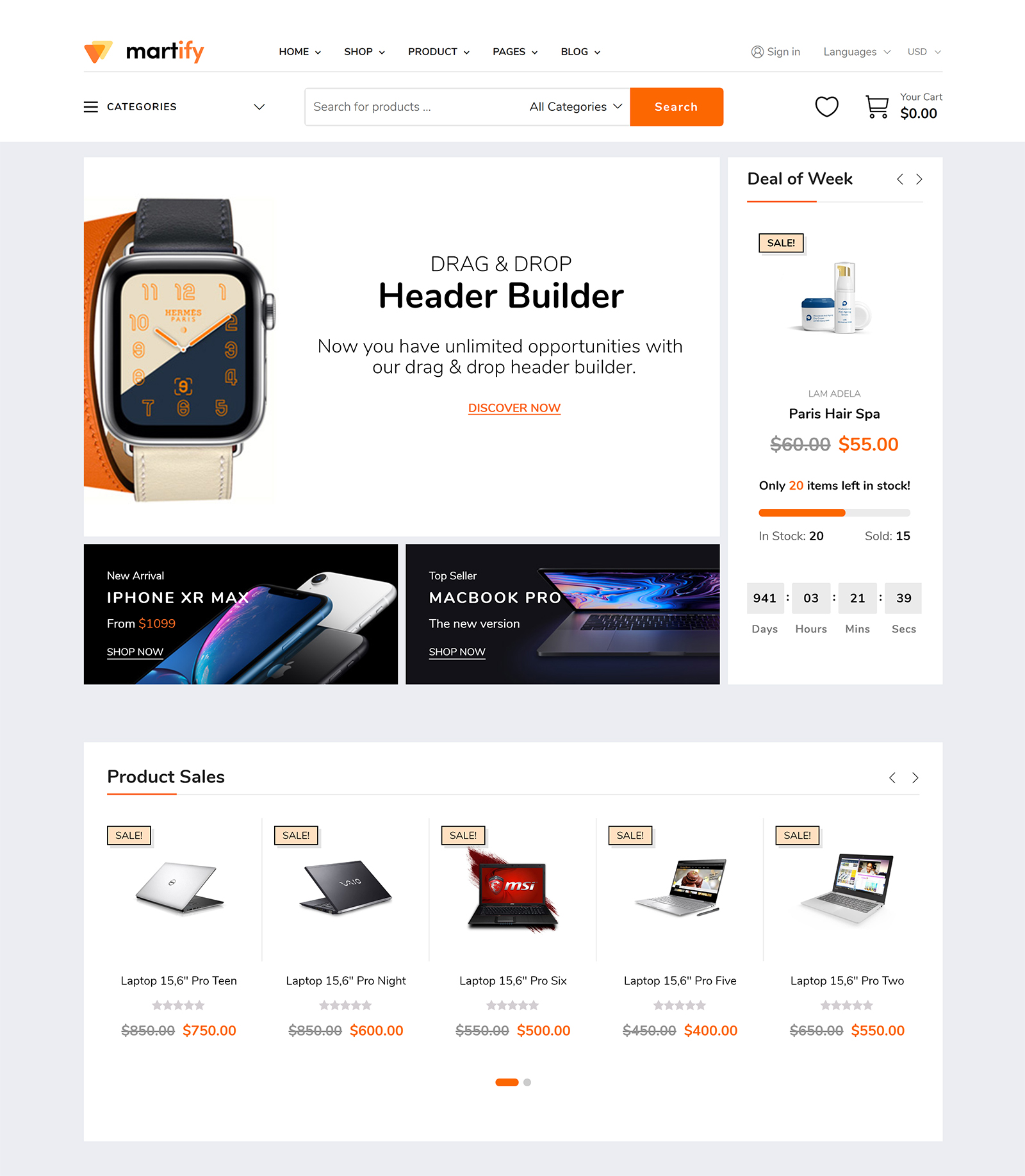 Martify WordPress Theme
