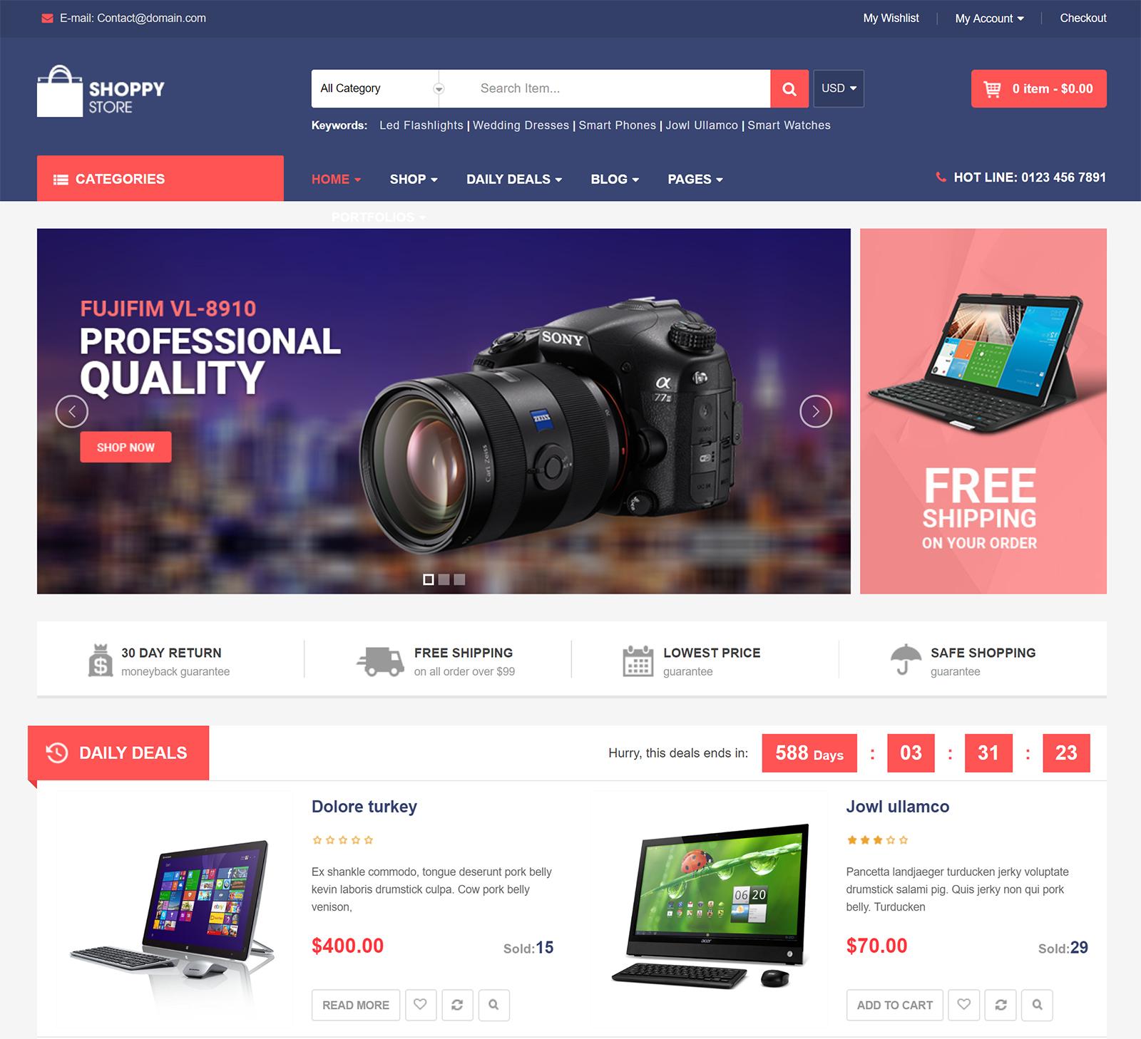 ShoppyStore WordPress Theme