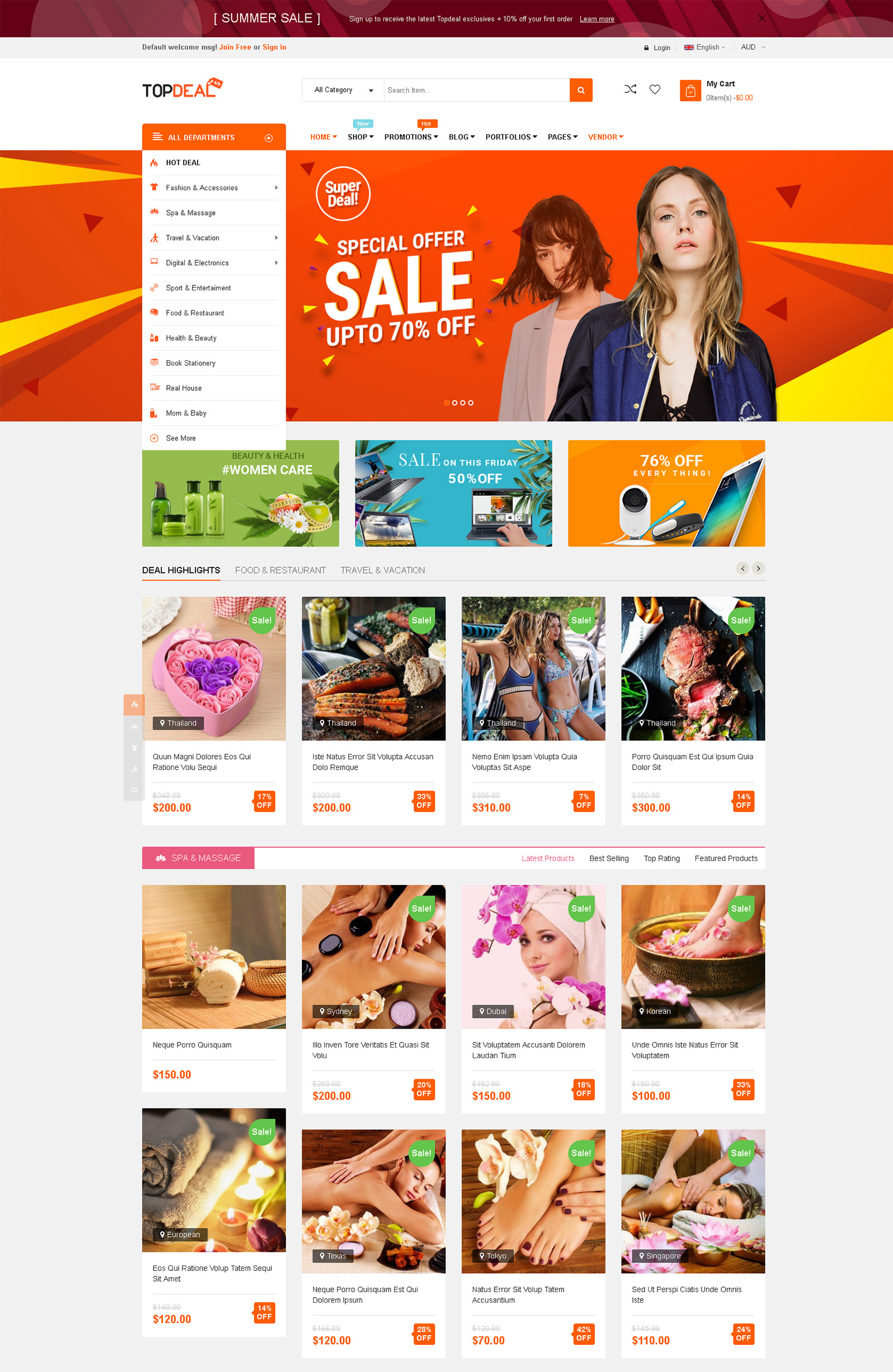 TopDeal WordPress Theme
