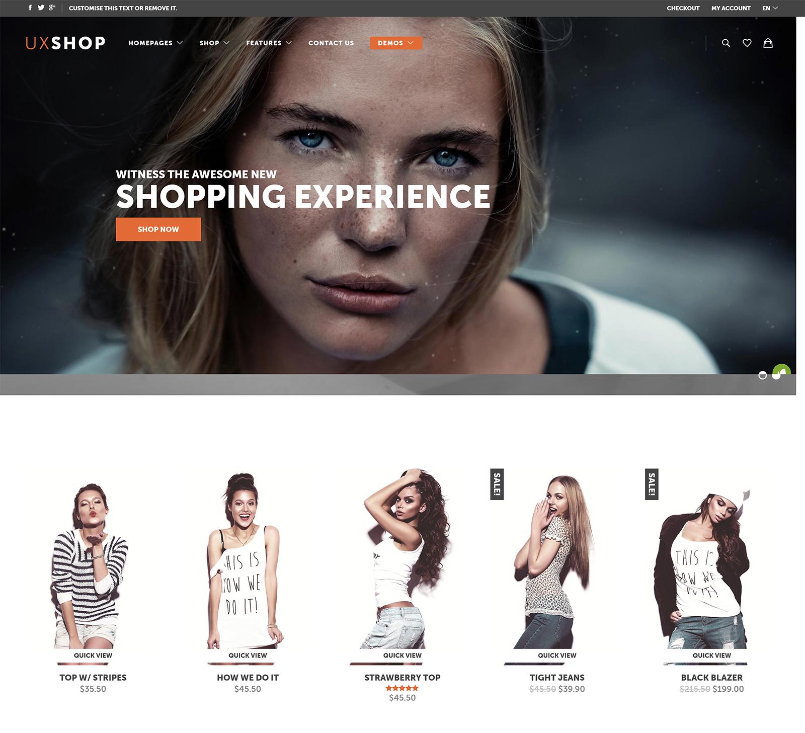 UX Shop WordPress Theme