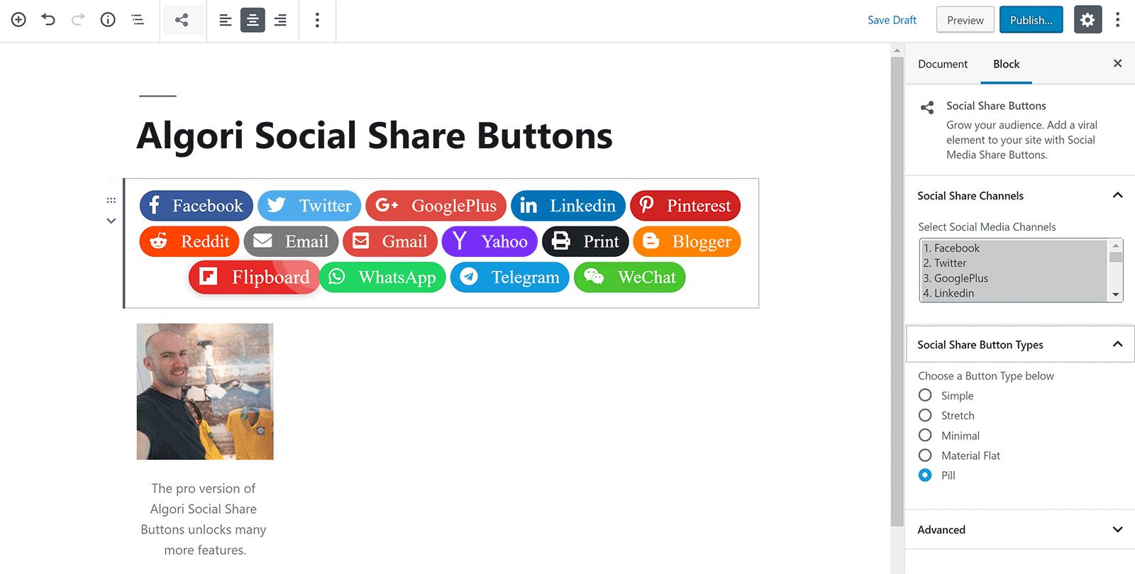 Algori Social Share Buttons