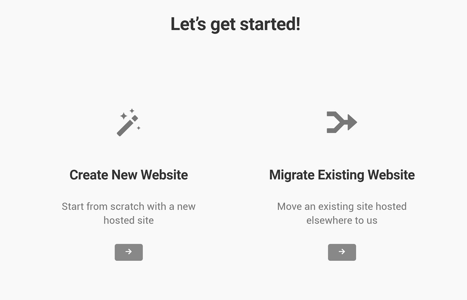Select Website Type