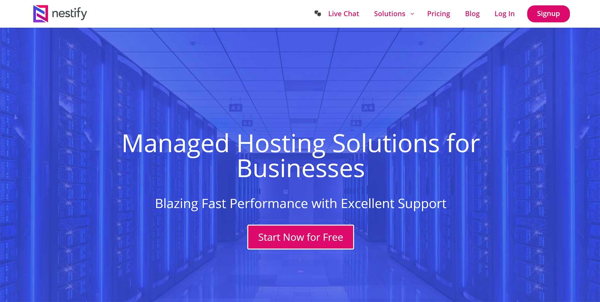 Nestify Managed WordPress Hosting