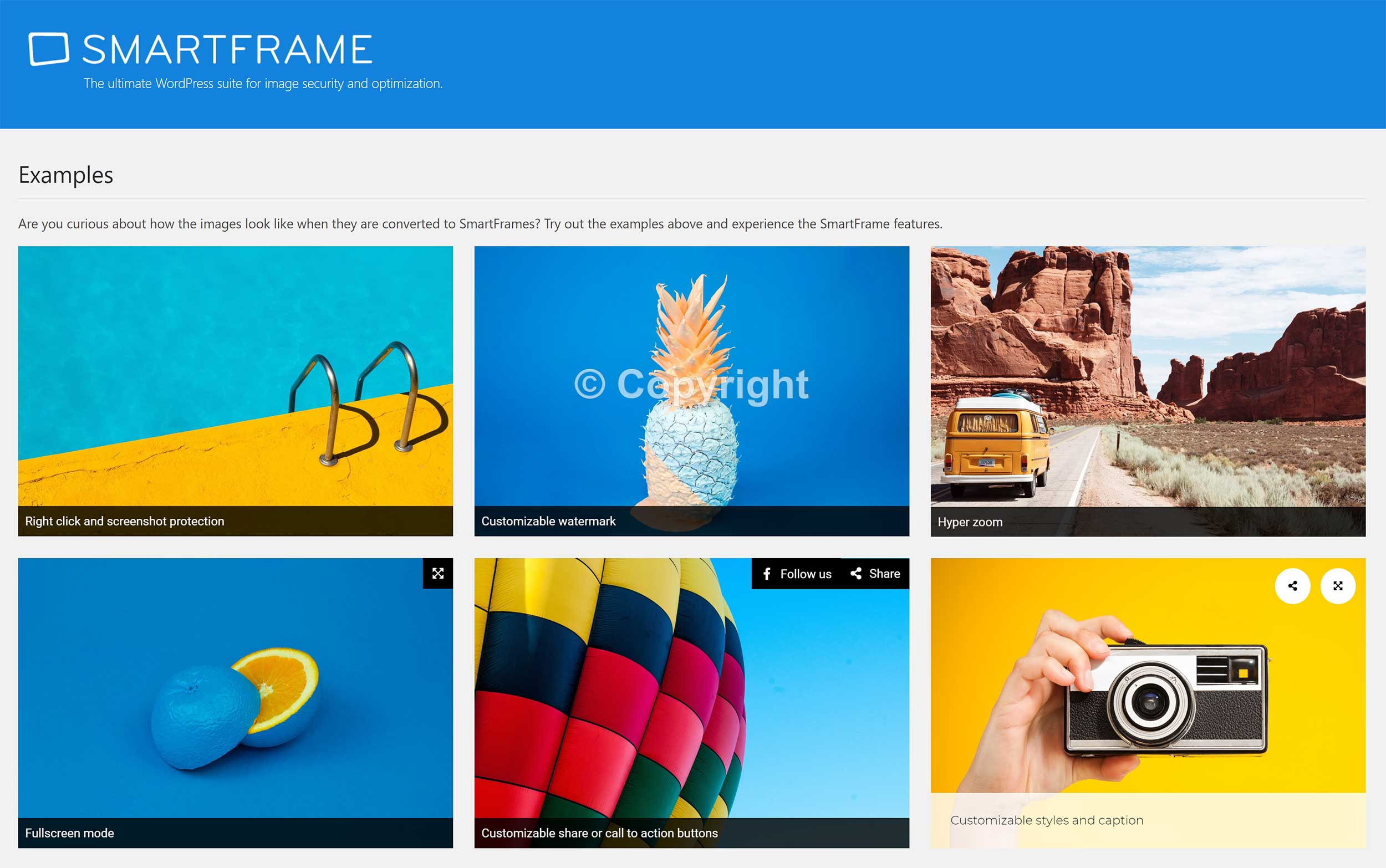 SmartFrame WordPress Plugin Examples