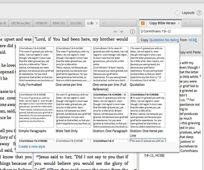 logos bible software copy bible verses