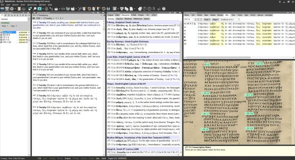 Notice the Bible verse references in the image of the manuscript on the right.