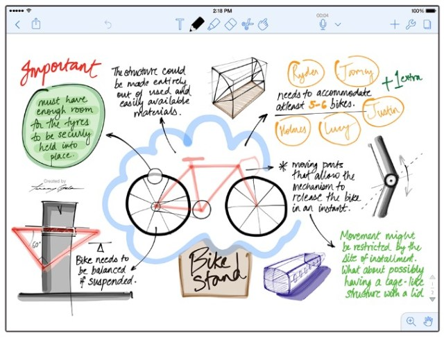 note taking with notability on ipad