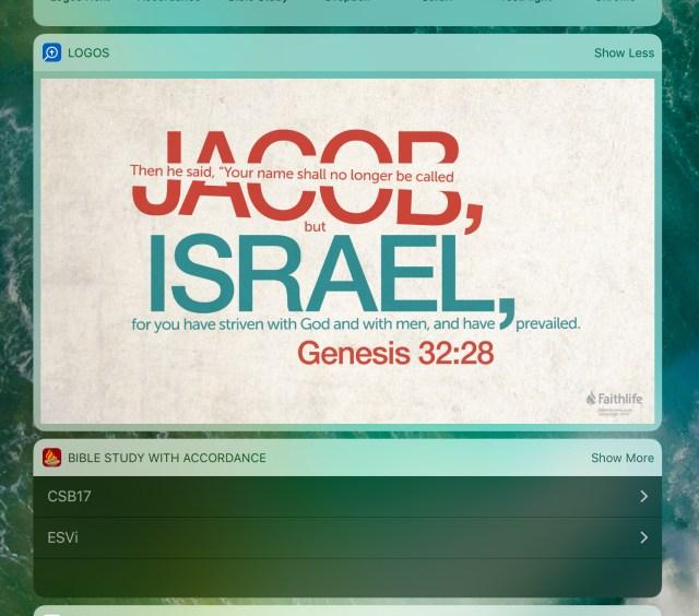 Bible verse of the day widget