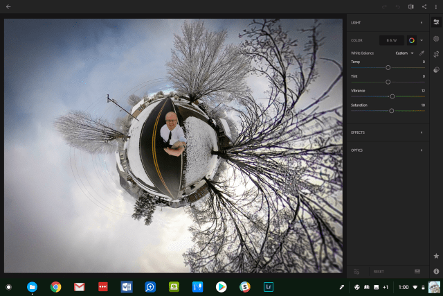 adobe lightroom on pixelbook