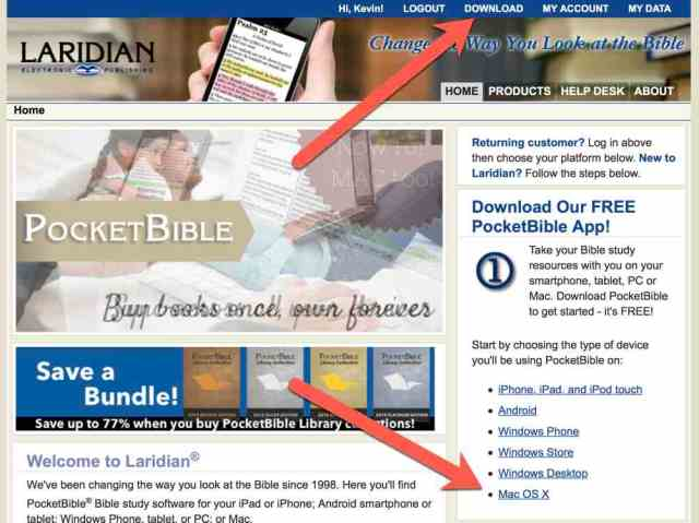 download pocketbible for mac