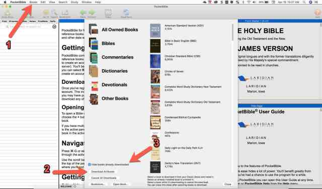 pocketbible for mac download books