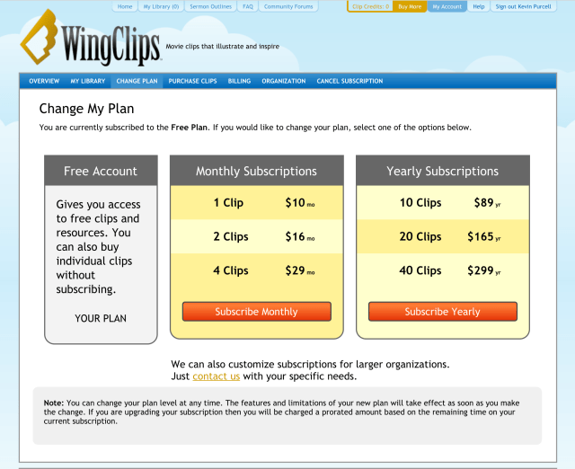 wingclips subscriptions