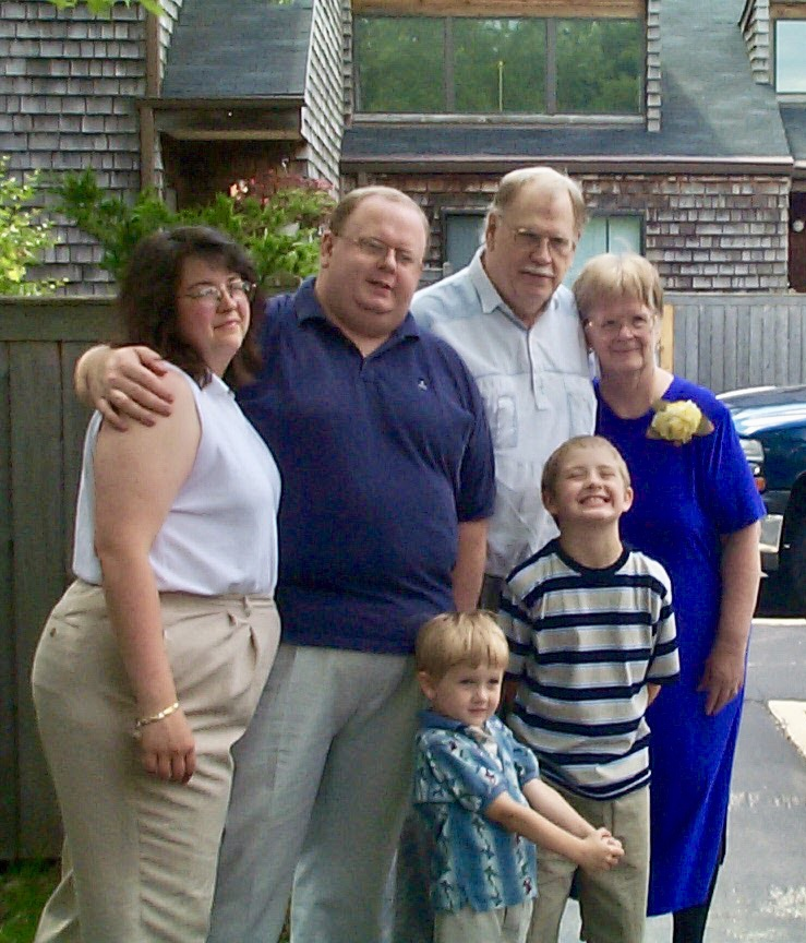 Mom and Dad with Me and my wife and sons
