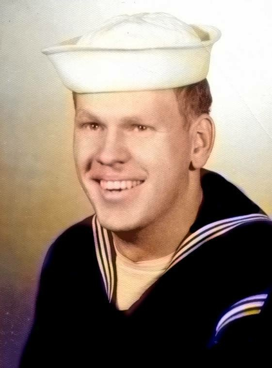 Jim Purcell in the Navy in the fifties