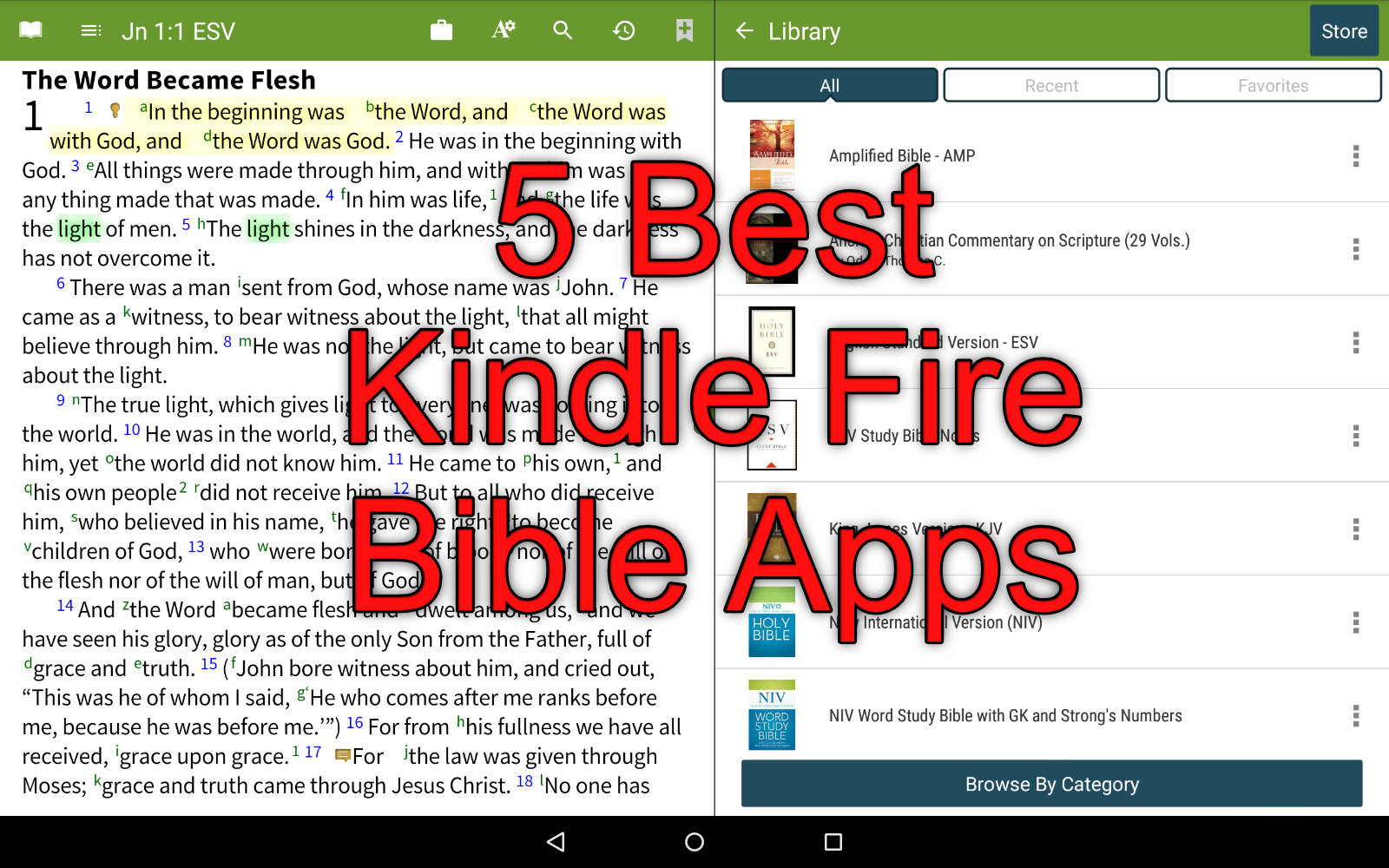 free bible study apps for kindle fire