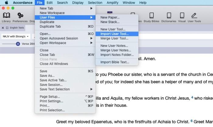 accordance 13 pdf new user tool menu command