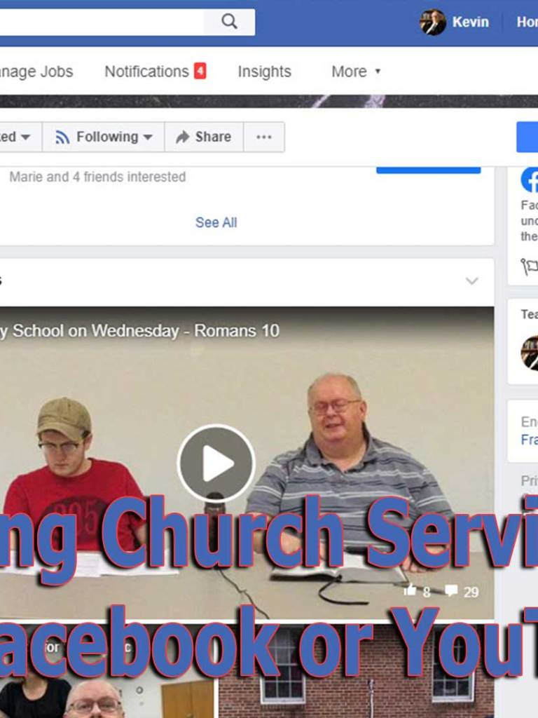 Streaming Church Services Live Using Facebook or YouTube Apps or Pages