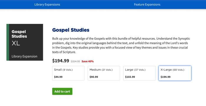 logos 9 library expansion gospel studies