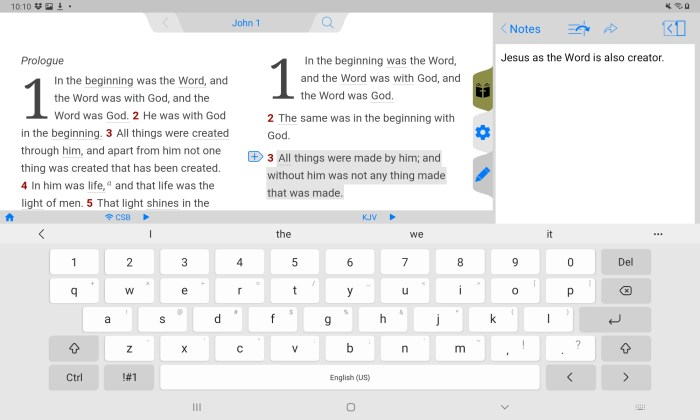 add notes to tecarta bible app on android one of the 5 best bible apps on android