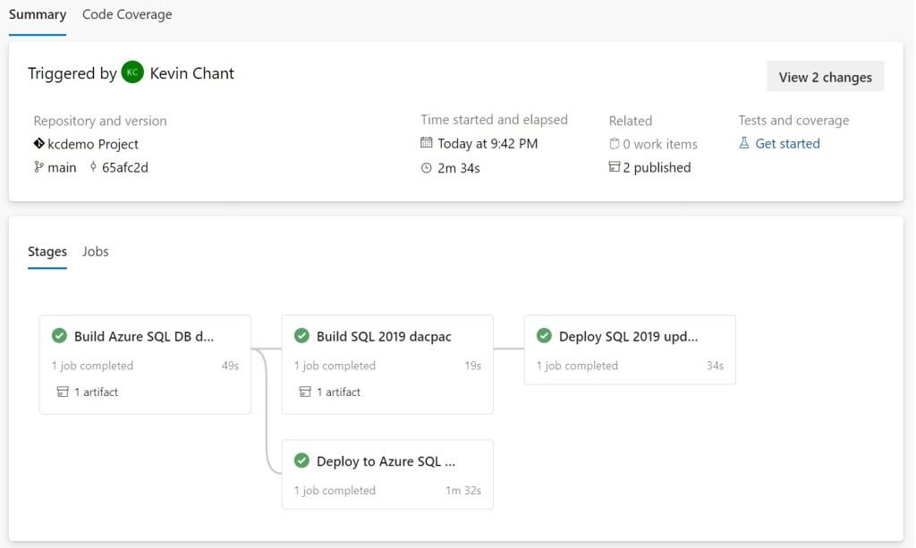Example Azure DevOps pipeline