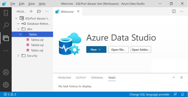 Database Project in Azure Data Studio