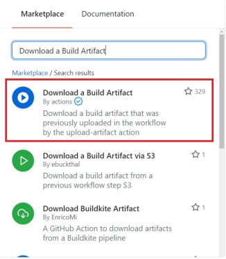 Download a Build Artifact Action