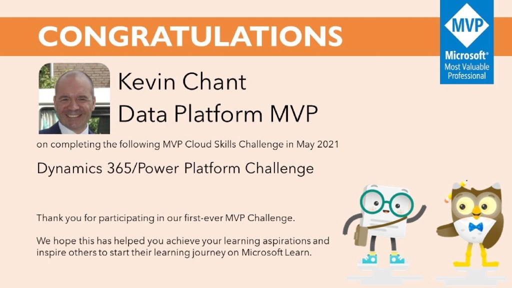 Congratulations for completing the MVP Challenge
