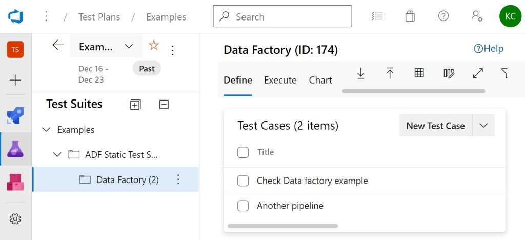 Additional test cases in same test suite in Azure Test Plans