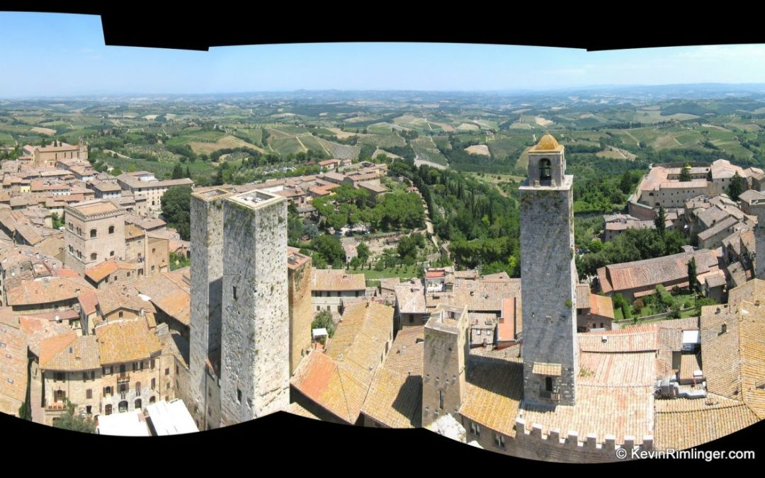 Panoramic Image of San Gimignano