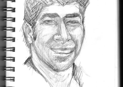 A quickly sketched self portrait