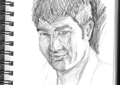 Another quickly sketched self portrait