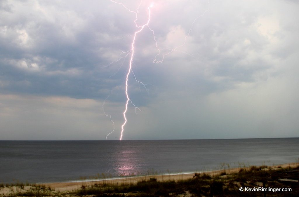 Lightning Off Kure Beach, North Carolina