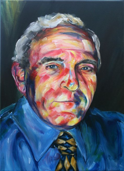 colourful acrylic portrait painting