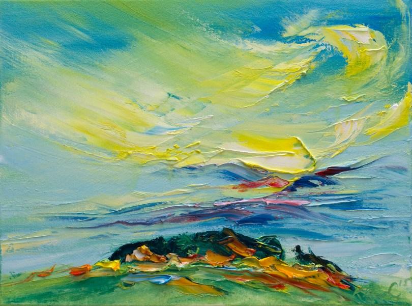Tara hill in bright summer light