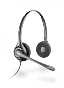 This headset is made by Plantronics