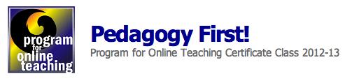 pedagogy First