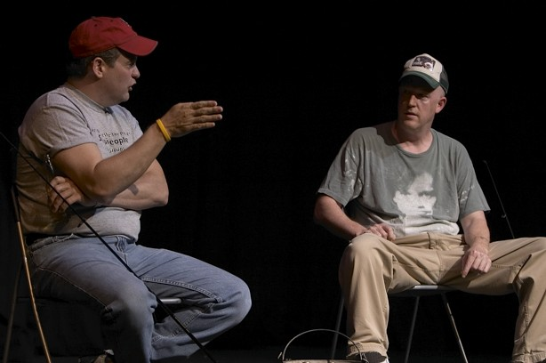 Mark Sutton and Joe Bill in Bassprov