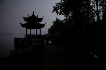 Long exposure of pavilion on Long Bridge (Chang Qiao)