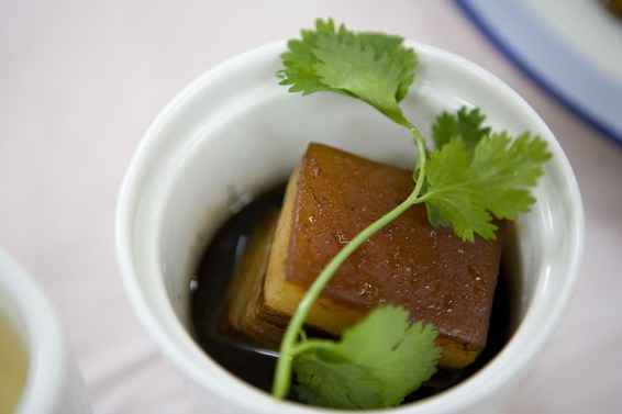 Dongpo Pork, which was supposedly invented by Su Dungpo, to reward workers for building the Su Causway in Hangzhou.
