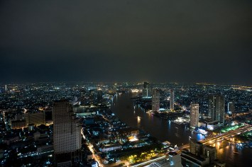 A view of Bangkok from Scirocco, at the top of Lebua.